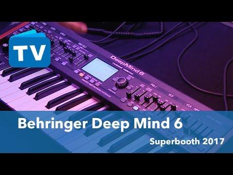 Superbooth 2017 Behringer Deep Mind 6 der kleine Deep Mind 12 Synthesizer -