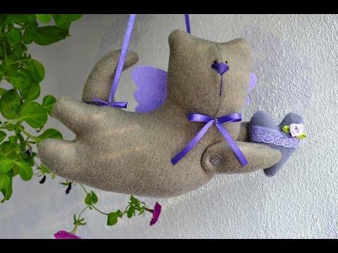 "Мастер-класс ""Летящий кот"" Тильда/Master class ""The flying cat"" the Tilde"