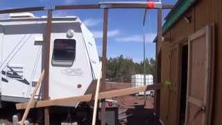 Versatube Going Up - Rv Carport - One Of Many Videos. Pls See Versatube Playlist