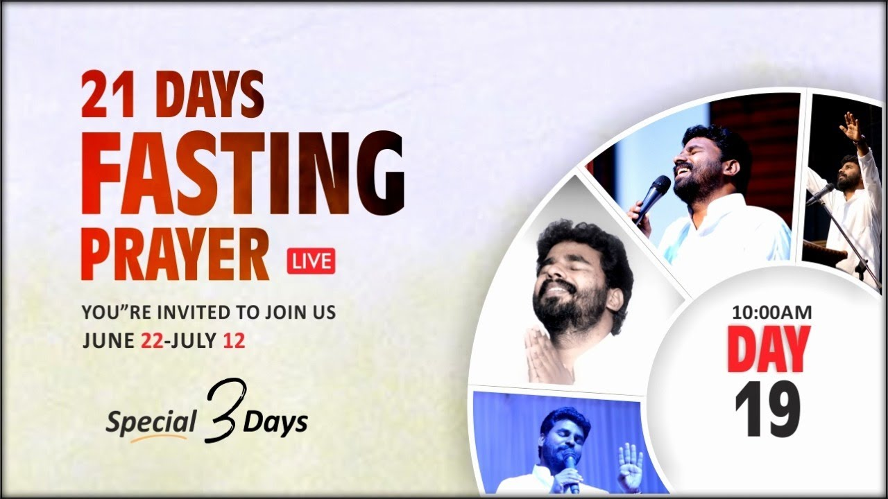 Live | Day 19 | 21 Days Fasting Prayer | Pastor Benz | City Church Of God | Tamil Christian Message