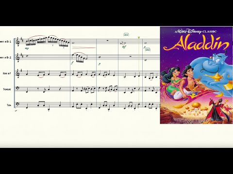 Arabian Nights from Aladdin for Brass Quintet Sheet Music