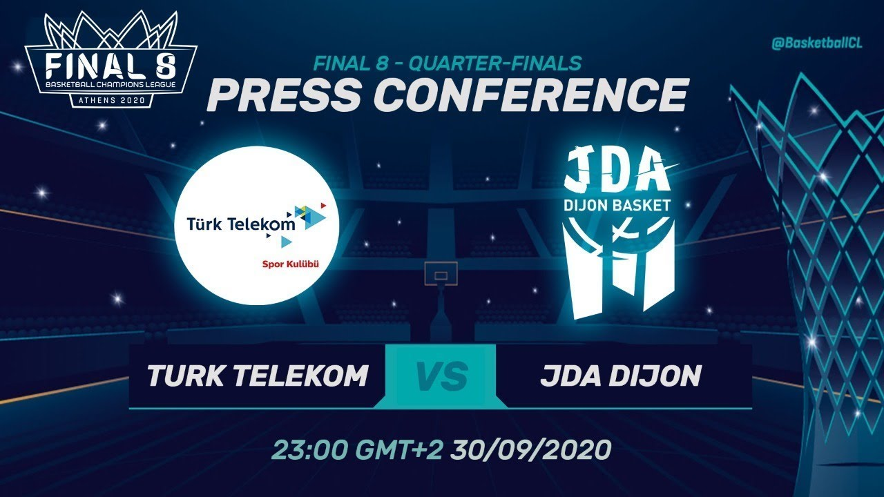 Türk Telekom v JDA Dijon - Press Conference - Quarter-Finals - Basketball Champions League 2019