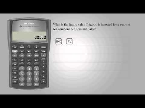 Future value – Texas Instruments BA II PLUS