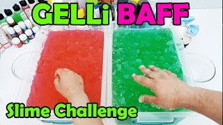 Fun and Funny Slime Challenge Game with Gelli Baff