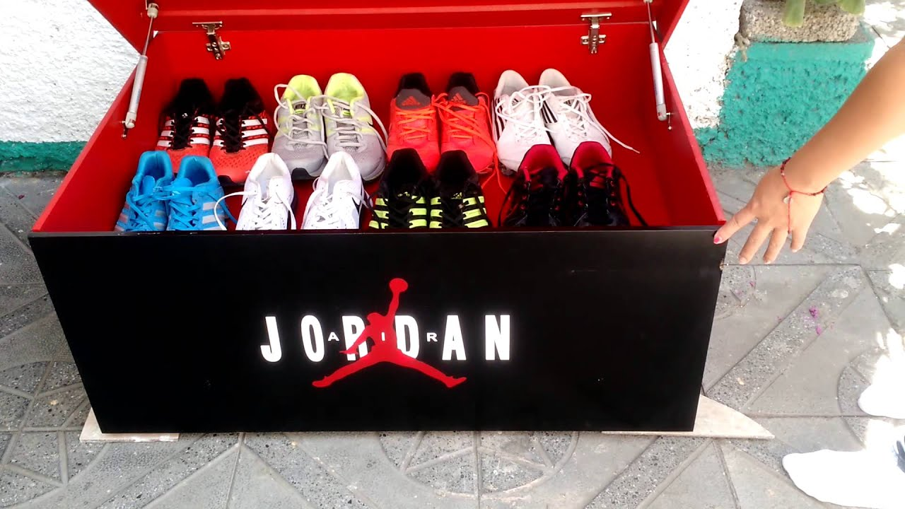 Sneaker box zapateras youtube for Zapateras de madera