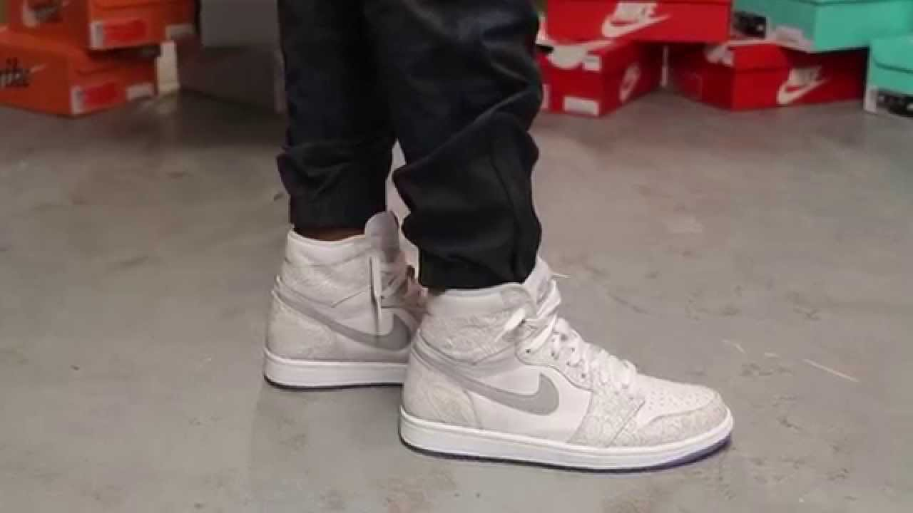 air jordan 1 og laser on feet