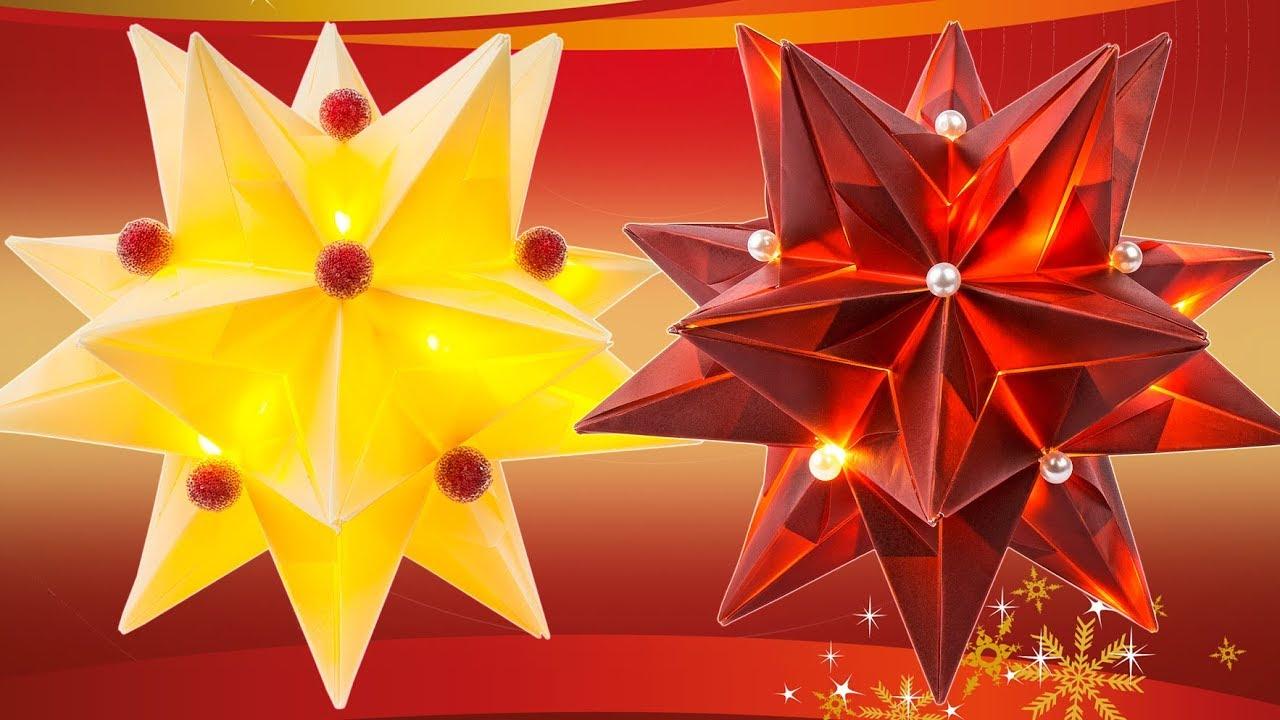 ideen mit herz aurelio stern basteln leuchtende origami sterne schritt f r schritt youtube