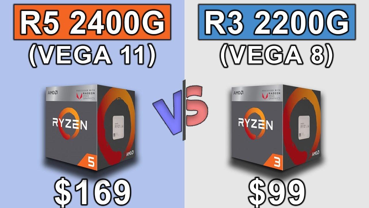 Ryzen 5 2400g Vega 11 Vs Ryzen 3 2200g Vega 8 New Games