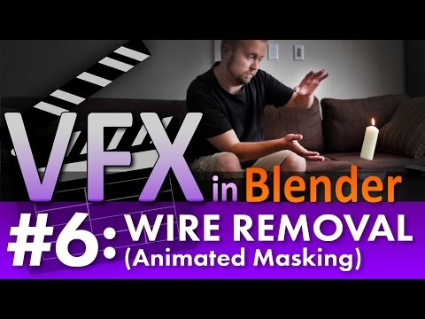 Blender VFX Tutorial #6: Wire Removal (Animated Masking) #b3d