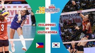 Philippines vs South Korea | Asian Women's Volleyball Championship 2017