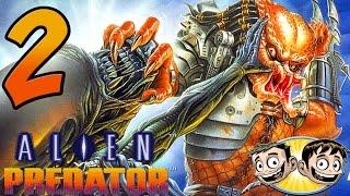 Alien Vs. Predator Arcade Game - PART 2 - Alien Sandwich - BroBrahs