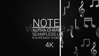 Falling Music Silver Notes || Videohive After Effects Templates
