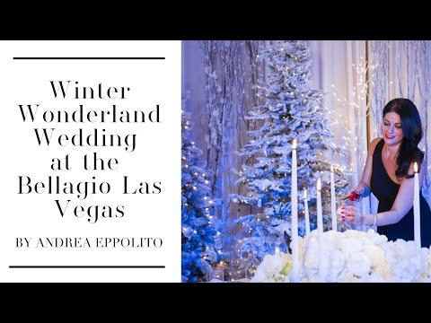 Winter Wonderland Luxury Wedding at Bellagio
