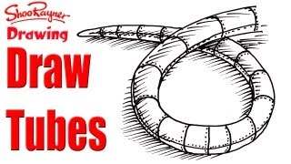 How to draw flexible tubes - like snakes!