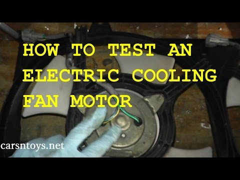 Radiator Cooling Fan Motor - How to Test and Replace