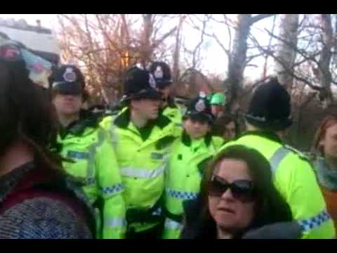 Barton Moss Fracking Protest - 11th March 2014 - Tuesday Afternoon - Tristan