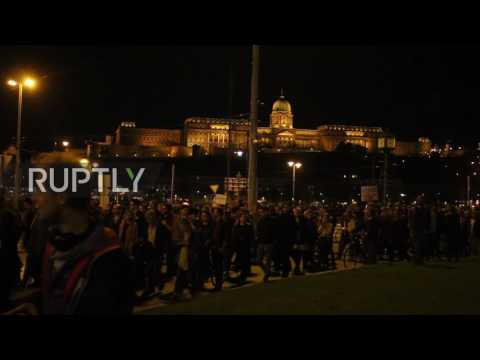 Hungary: Clashes between police and protesters over Soros-backed university in Budapest