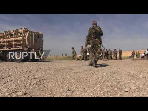 Iraq: IS militants kill Kurdish fighters in suicide attack at Kirkuk airbase *GRAPHIC*