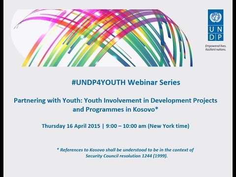 #UNDP4YOUTH Webinar Series – Partnering with Youth in Kosovo*