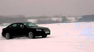 Subaru Legacy 3.0R speed drift in snow