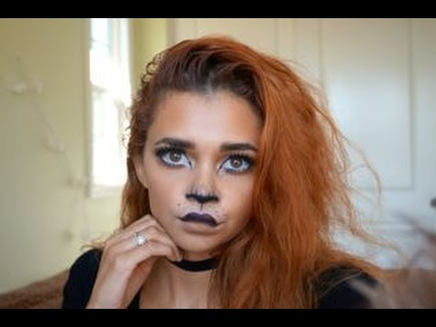 cute lion halloween makeup tutorial   youtube