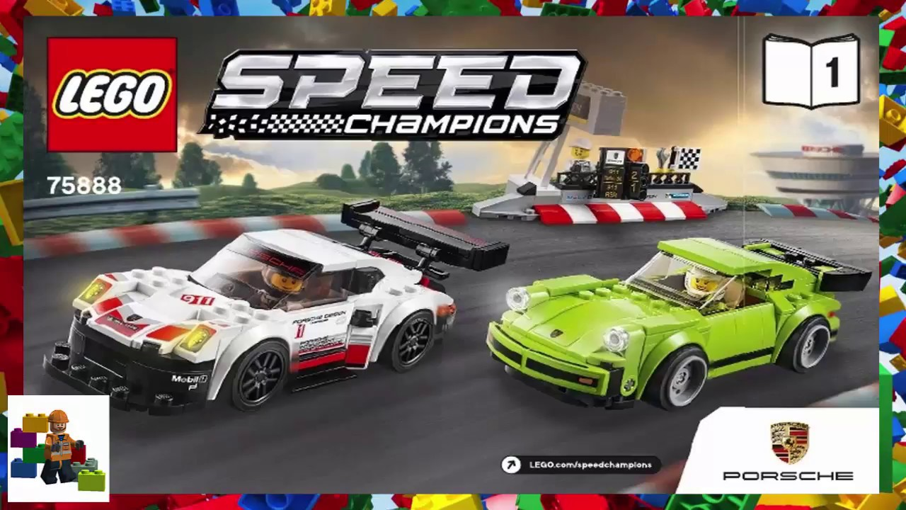 Lego Instructions Speed Champions 75888 Porsche 911 Rsr And