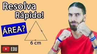 Você consegue resolver RÁPIDO? Área de Triângulo Equilátero- Matemática - Rafa Jesus