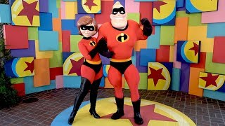 Mr  & Mrs  Incredible Pixar Pals Meet & Greet at Disney California Adventure Pixar Fest, Disneyland