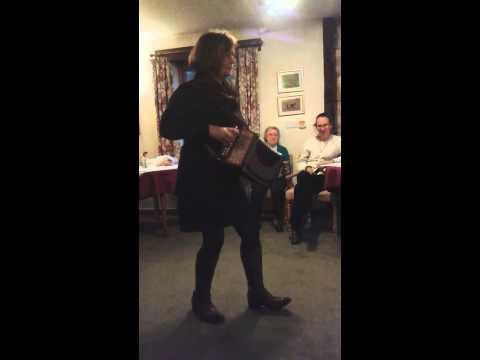 Sharon plays melodeon