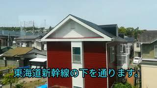 特急メトロはこねの車窓小田原~箱根湯本間。