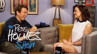 """The Walking Dead's"" Lauren Cohan Tries Out Accents With Pete"