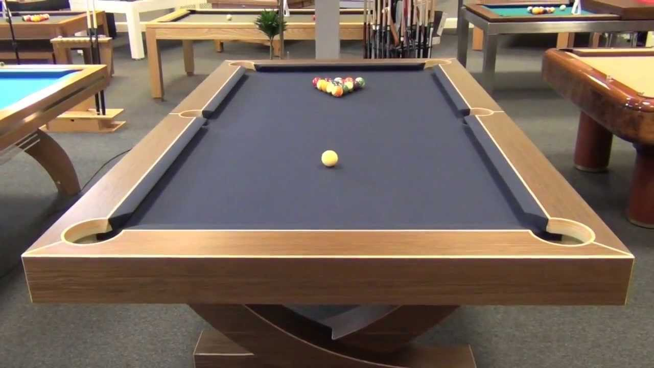 Perfect Designer Billiards Arc Pool Table   YouTube