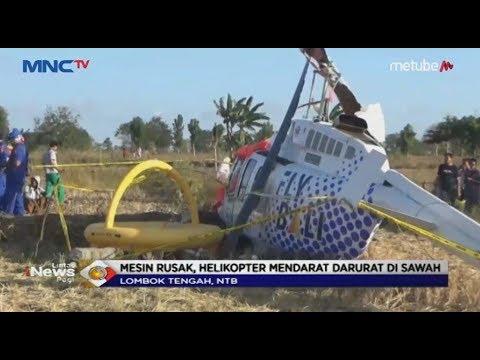 Mesin Rusak, Sebuah Helikopter Mendarat Darurat di Area Persawahan di Lombok Tengah - LIP 15/07