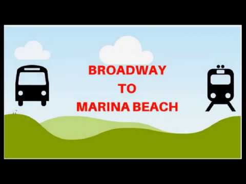 Broadway to Marina Beach | Bus route| Fares | Duration | How
