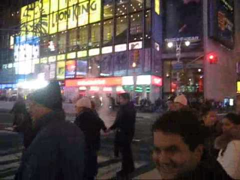 NY Giants Win Superbowl XLII!!  Celebration in Times Square