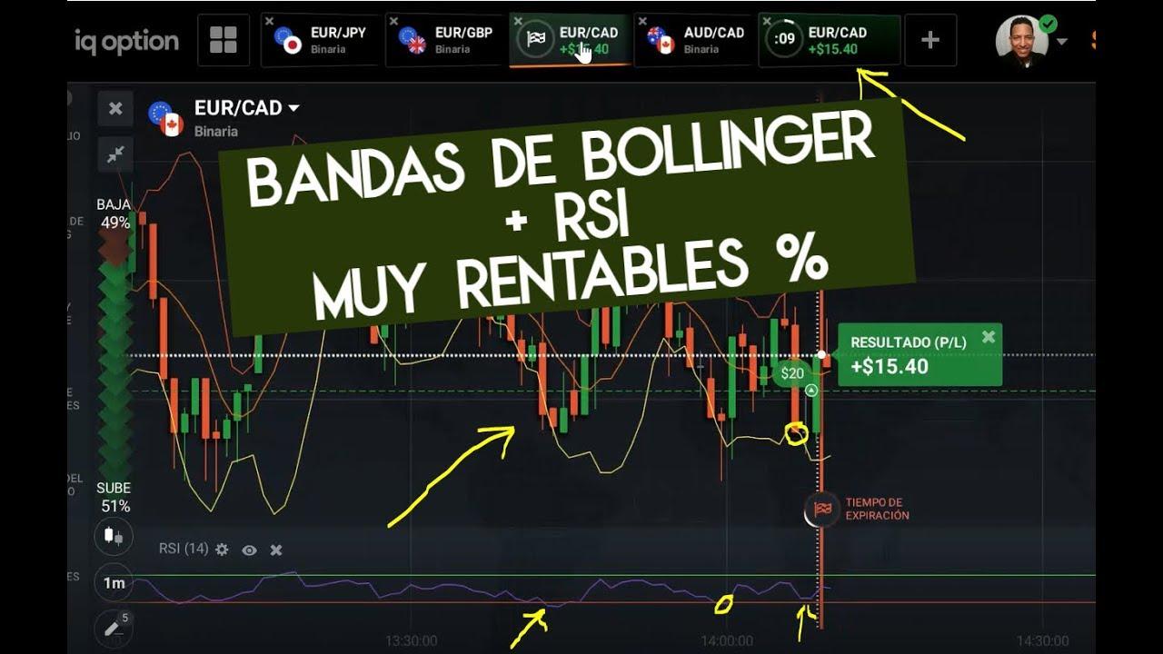 ⇛ La Mejor Estrategia para ganar Diario en Iq Option  2019; RSI + Bandas de Bollingers