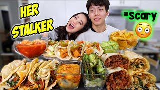 FISH TACOS + GIANT BURRITOS + SHRIMP CEVICHE w/ GUACAMOLE & QUESO MEXICAN MUKBANG 먹방 | Eating Show