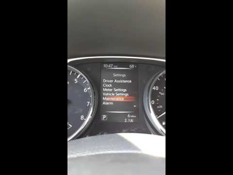 Nissan Rogue heads up settings menu for Sarah