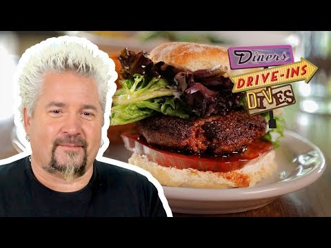 Burger Made Entirely of BACON on #DDD with Guy Fieri | Food Network