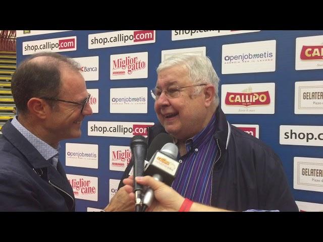 #SuperLega, intervista al Presidente Pippo Callipo dopo la vittoria all'esordio