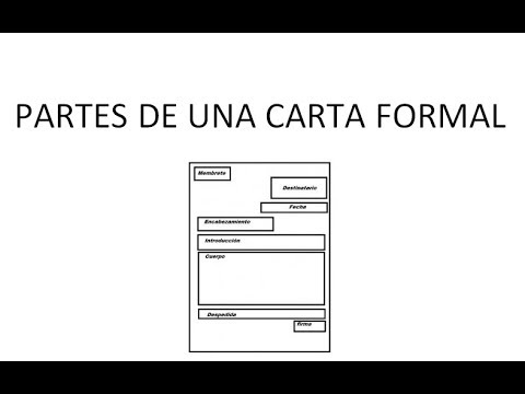 Partes de una carta formal youtube for Partes de una griferia de ducha