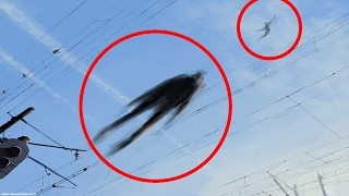 5 Flying Humanoids Caught On Tape & Spotted In Real Life!