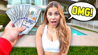 Giving My Girlfriend $1000 Every 10 Minutes For Her Birthday.. *SURPRISE*