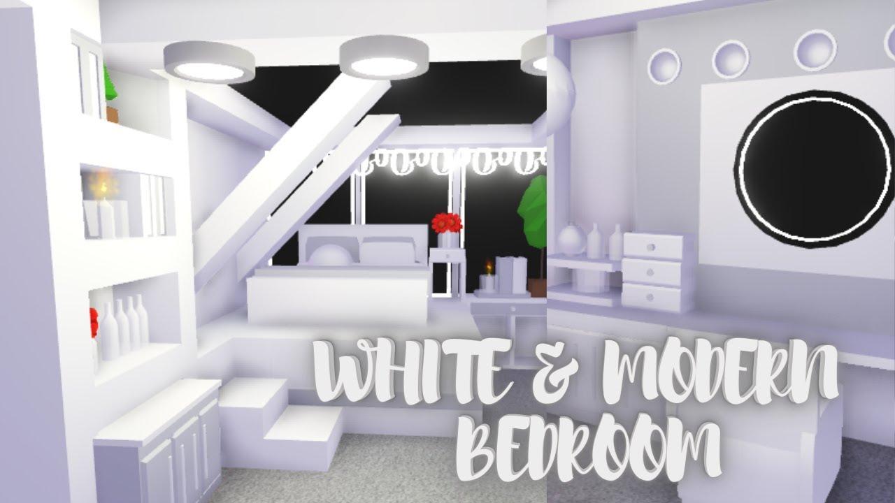 White Modern Teen Bedroom Roblox Adopt Me Youtube