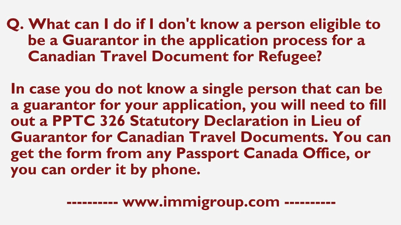 What can I do if I don't know a person eligible to be a Guarantor in Canadian Pport Application Form Pptc on