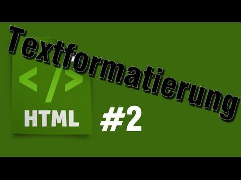 HTML Tutorial 2: Textformatierung (Text Style ändern) [HD] - TutorialChannel