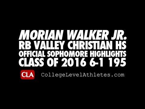 Morian Walker Jr: 2016 RB (Valley Christian) Sophomore #D1Bound Mix - CollegeLevelAthletes.com