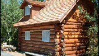 Custom Log Cabin Playhouse
