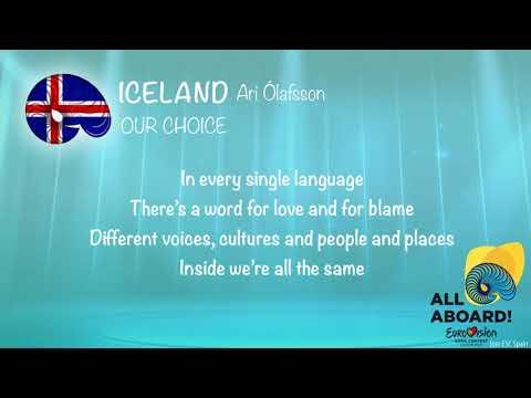 Ari Ólafsson - Our Choice (Iceland) [Karaoke Version]