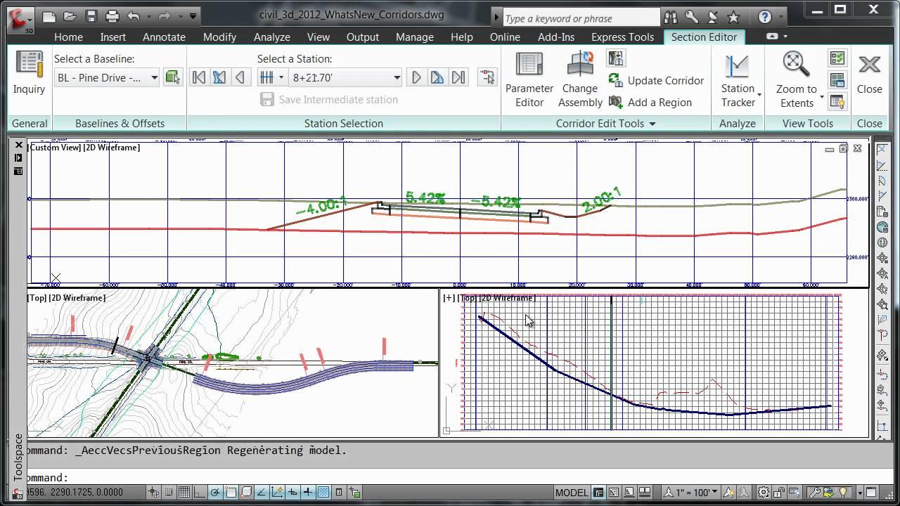 AutoCAD Civil 3D 2012 - Corridor Editing